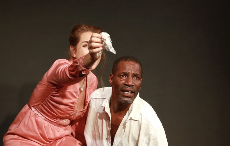 Pope Jerrod and  Marlisa Doubell in Thirst. Image by Nardus Engelbrecht