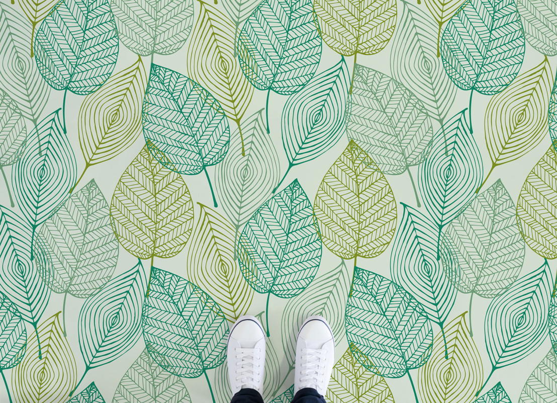 Leaf |   <br/>Illustrated Leaves Vinyl Flooring