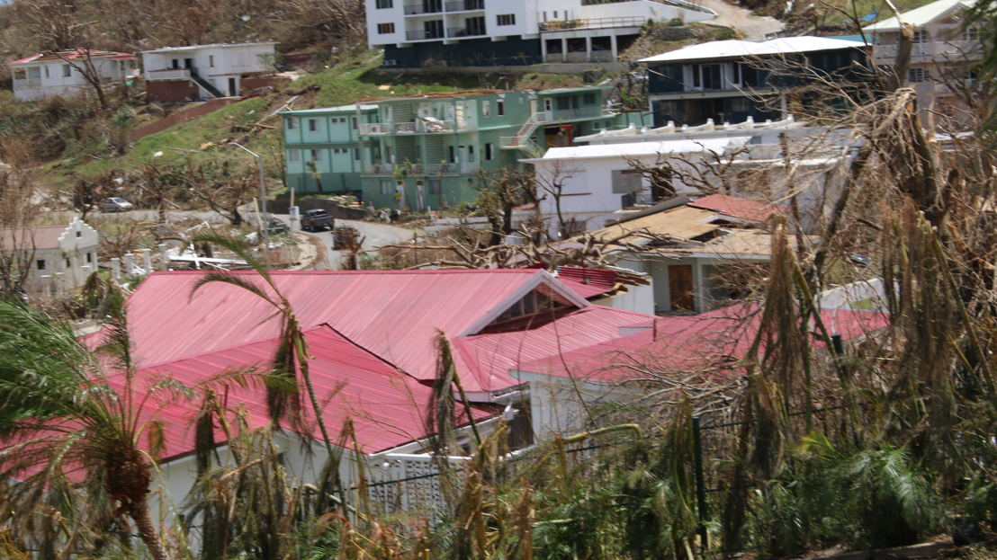Aftermath of Hurricane Irma in Tortola, BVIs