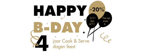 Preview: Cook & Serve bestaat vier jaar