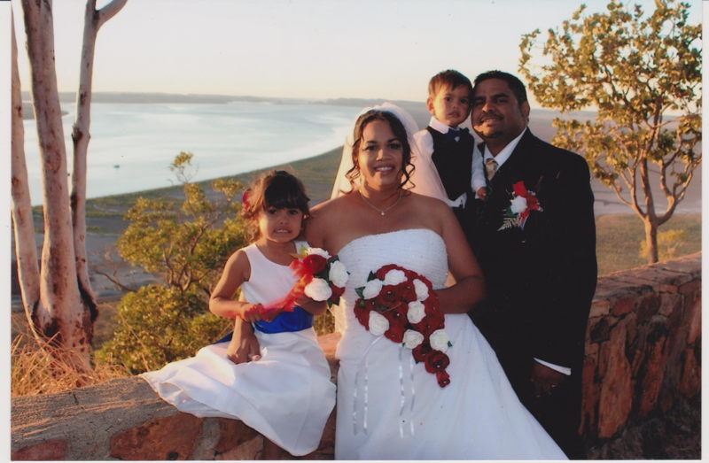 Ronno and Coralie at their wedding