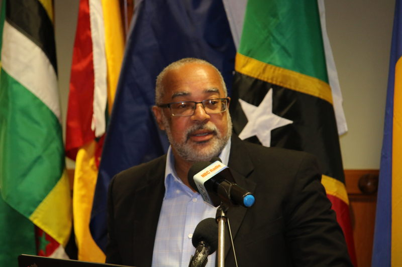 OECS Director General, Dr. Didacus Jules, addresses the gathering.