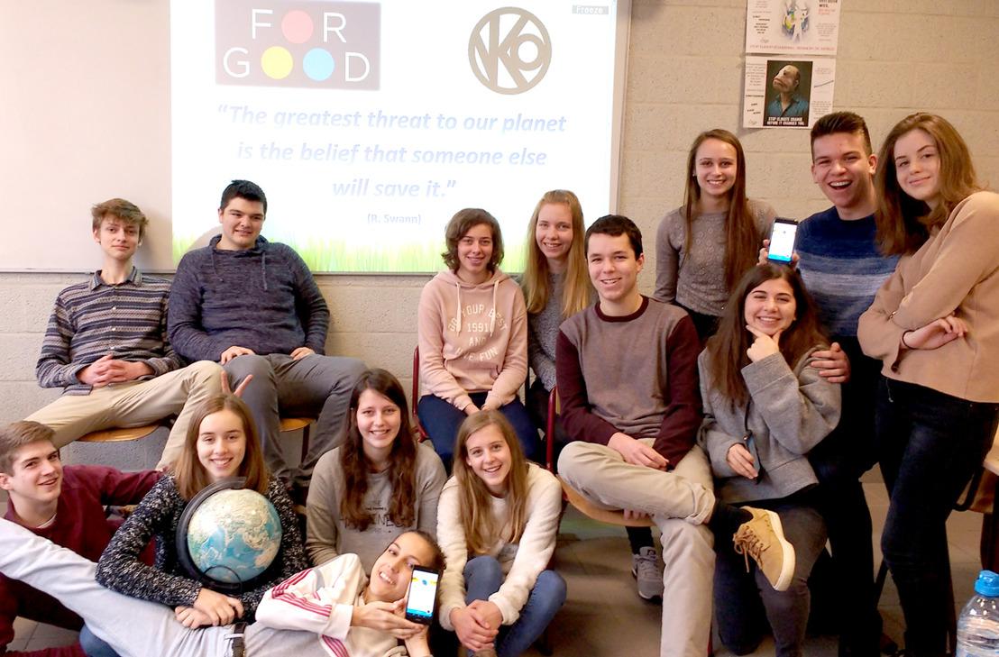 PERSUITNODIGING KICK-OFF: Leerlingen VKO Opwijk in de bres voor duurzaamheid