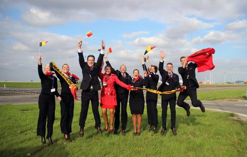 Les Diables Rouges en vol pour Zagreb avec Brussels Airlines