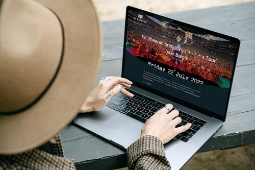 Ed Sheeran doet een beroep op Leuvense websiteontwikkelaar