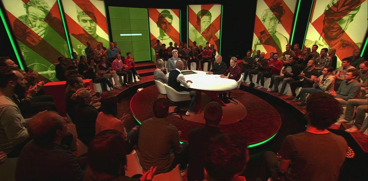 Ruben Van Gucht in de studio van Extra Time - (c) VRT