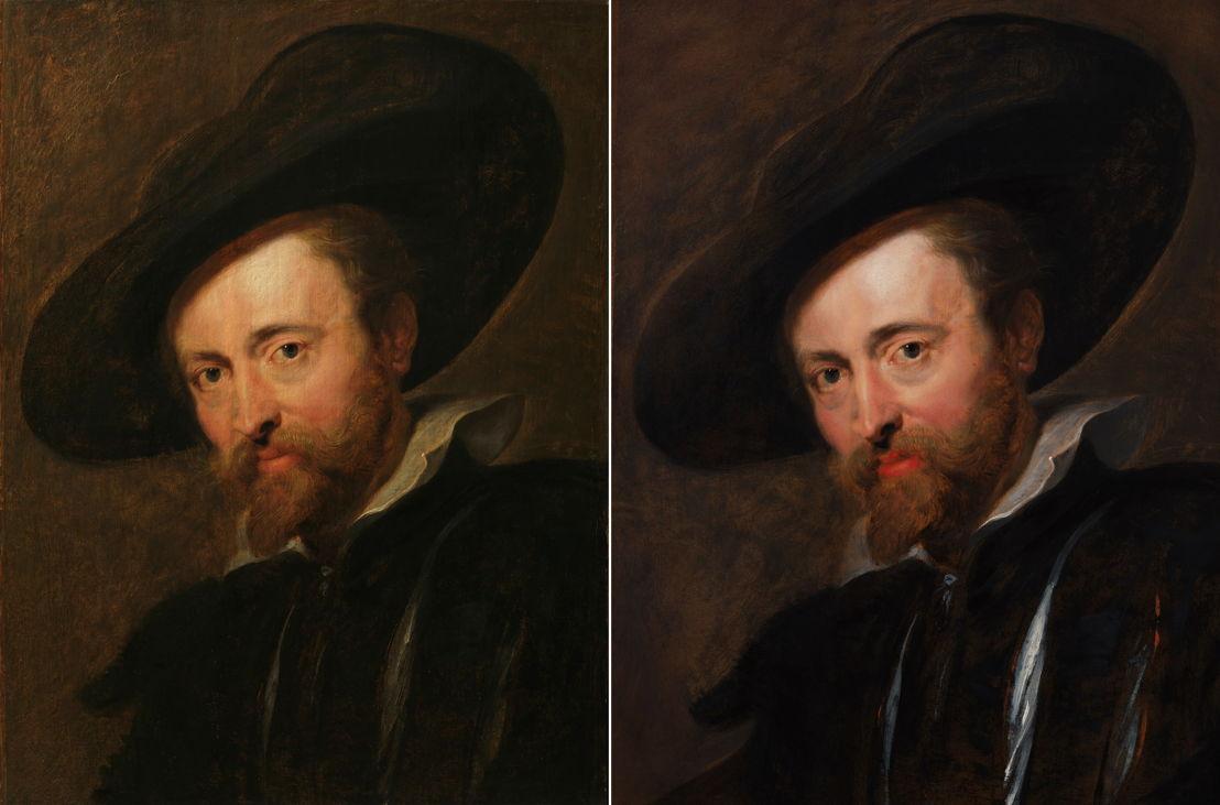 17_Voor en na restauratie, Peter Paul Rubens, Zelfportret, Rubenshuis Antwerpen, foto Rubenshuis en KIK-IRPA Brussel