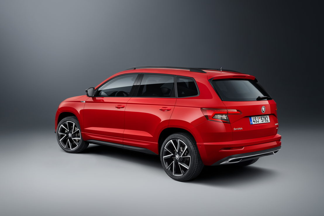 To match its sporty exterior, the ŠKODA KAROQ SPORTLINE comes exclusively with the most powerful petrol engine in the series.