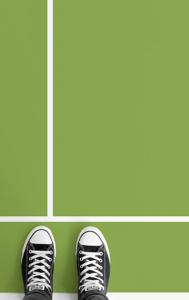Preview: Keep the jubilation of Wimbledon going with these custom tennis court flooring designs