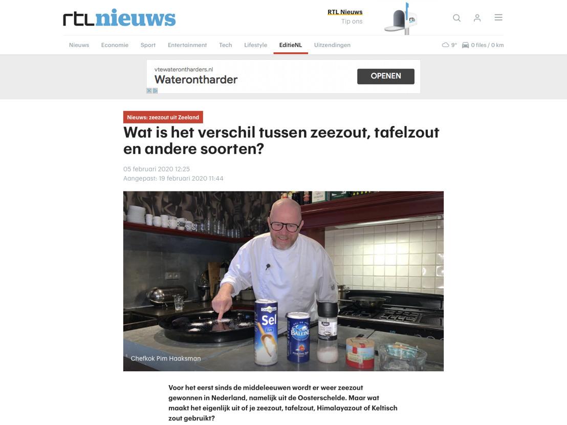 Zeeuwsche Zoute in item bij EditieNL op RTL4