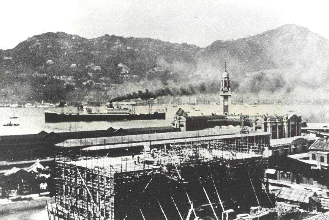 The Peninsula Hong Kong under construction in 1925