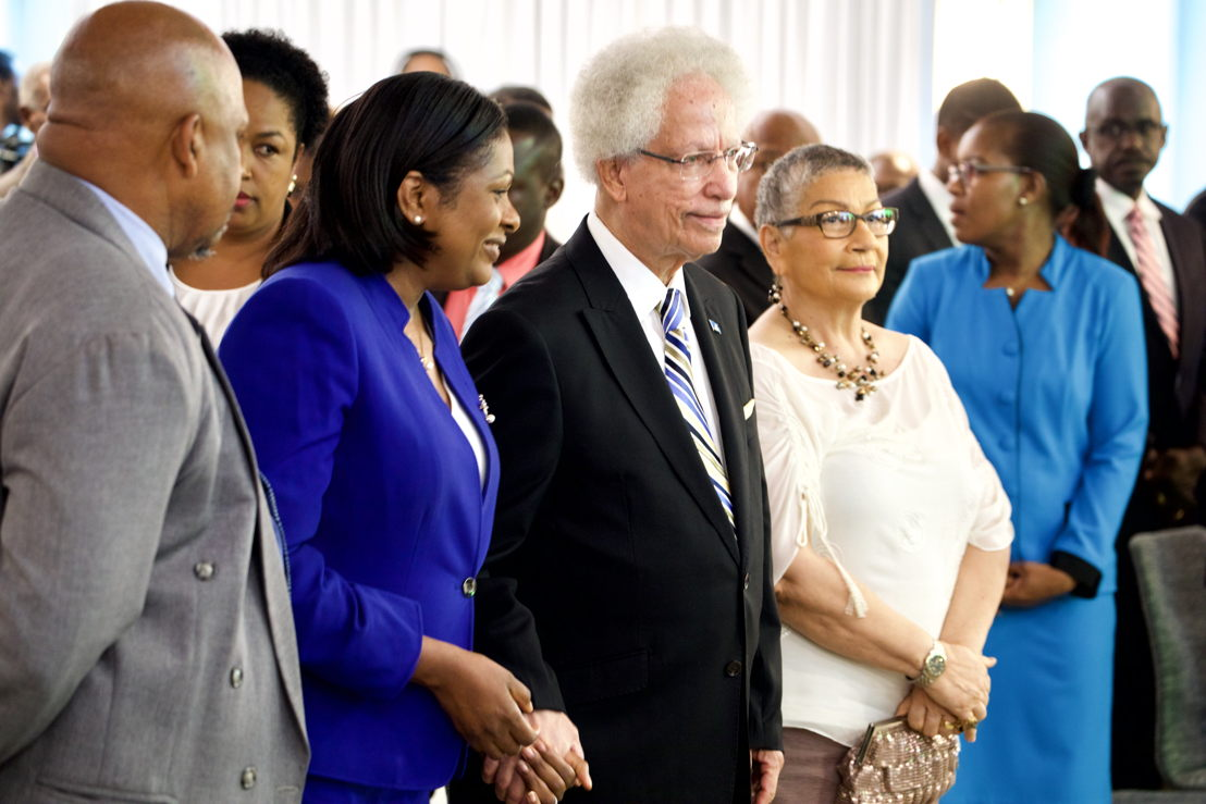 Governor General of Saint Lucia, Sir Neville Cenac, and Lady Cenac attend the Opening Ceremony of the 65th OECS Authority Meeting.