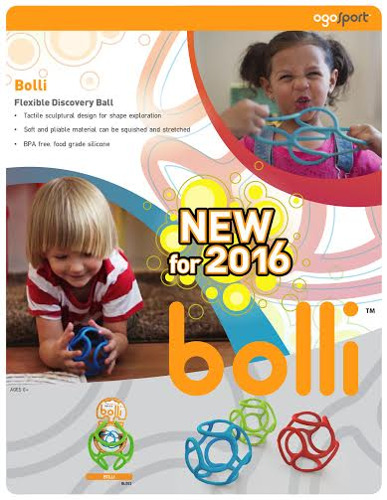 OgoSport Enters Infant Market with Bolli, a Flexible Discovery Ball Safe for Teething