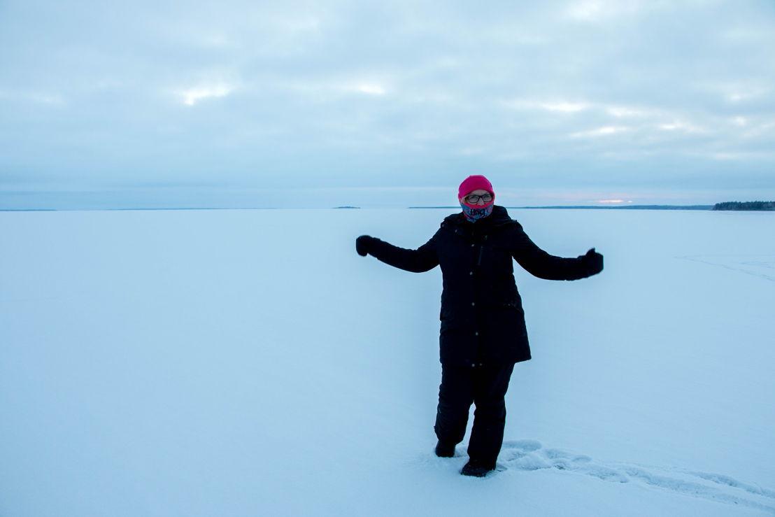 Rosie Batty on ice