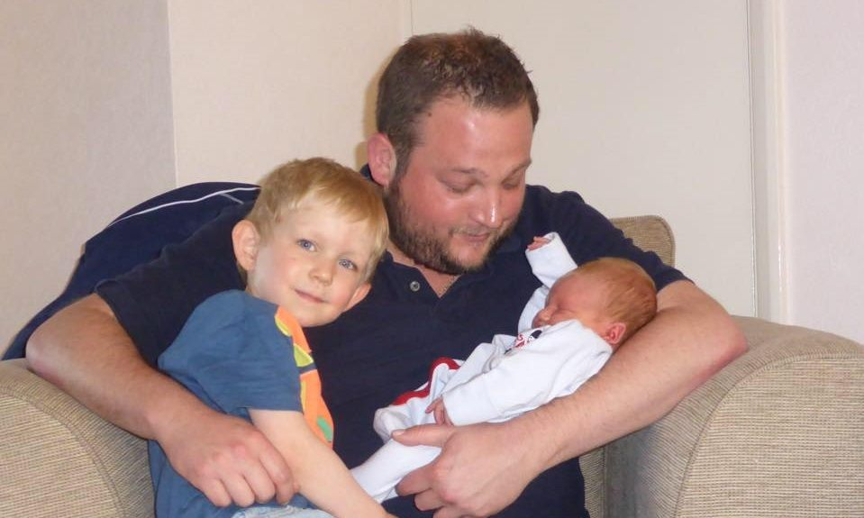 British Entrepreneur Paul Crowdy and children.