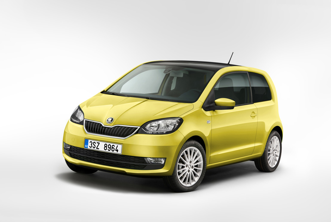 ŠKODA CITIGO with new front section and upgraded interior