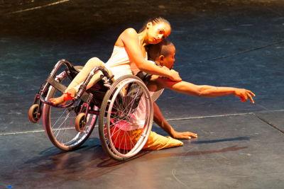 A scene from Unmute Dance Company's Breaking Borders