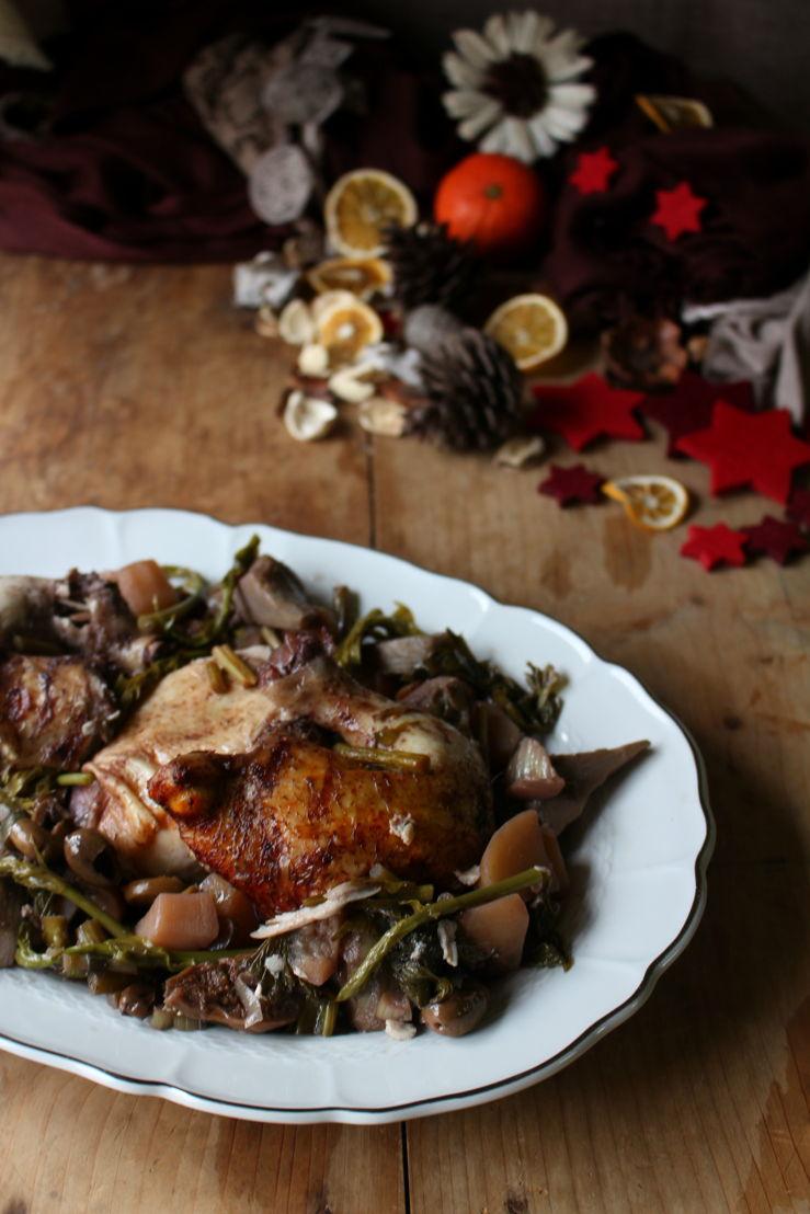 Pollo brasato con verdure - Ricetta di Monica Vitale