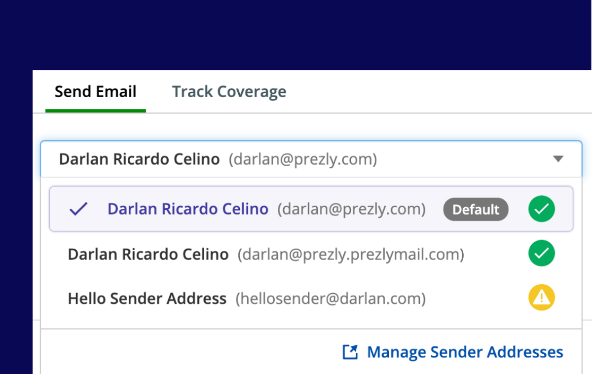 Help: Multiple email addresses per contact