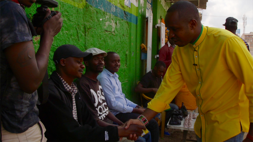 Mwangi campaigns - ABC's Foreign Correspondent (photo credit: Cathy Scott)