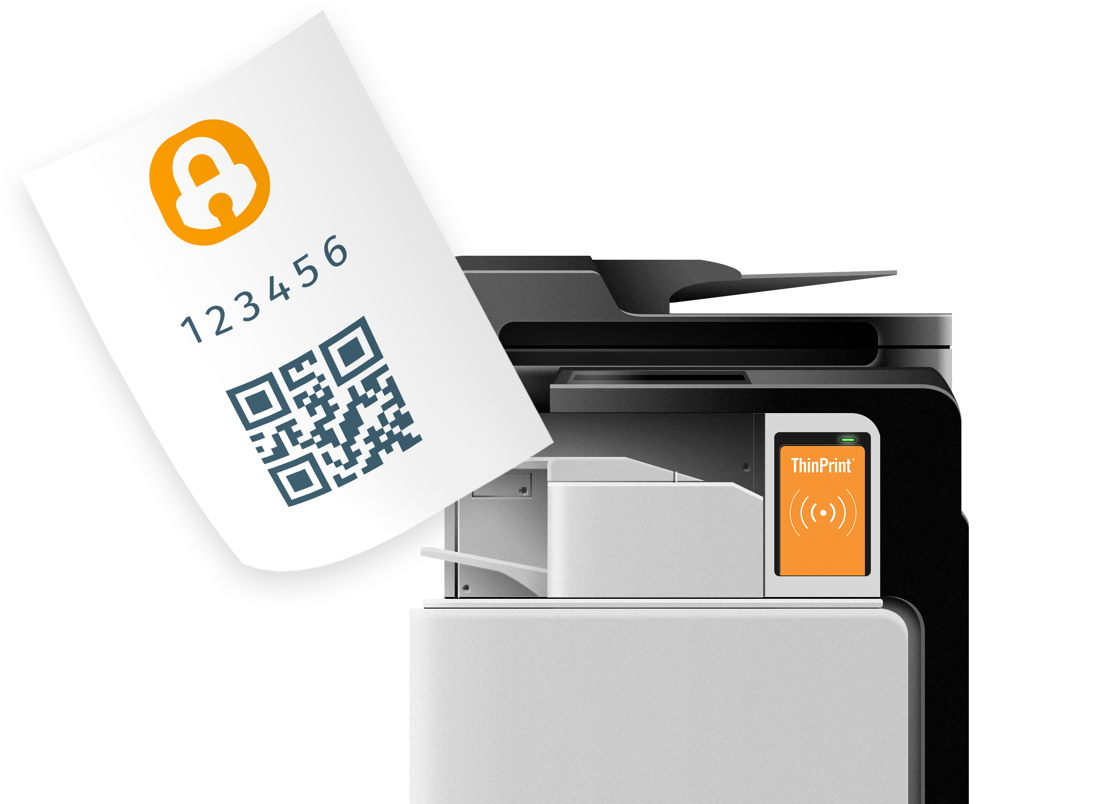 After the cards have been scanned, employees receive a code specially generated for them.