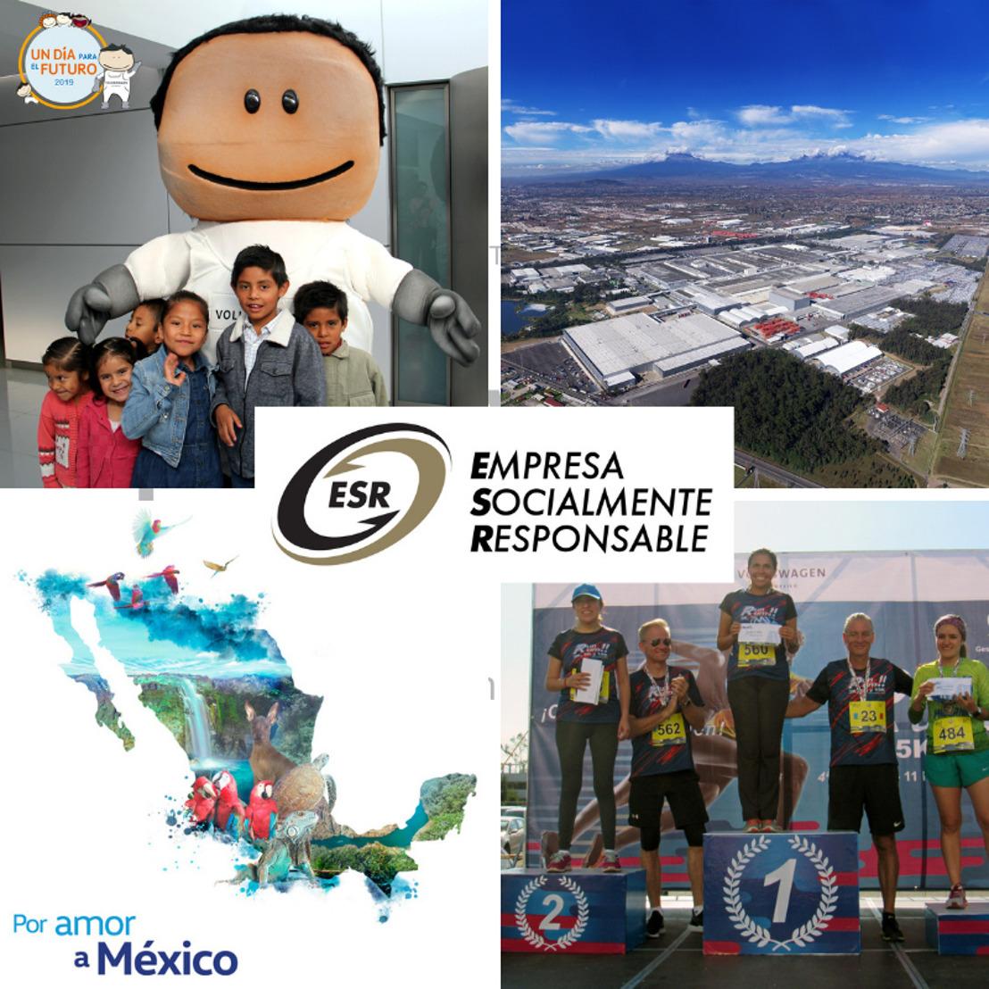 Volkswagen de México recibe distintivo como Empresa Socialmente Responsable
