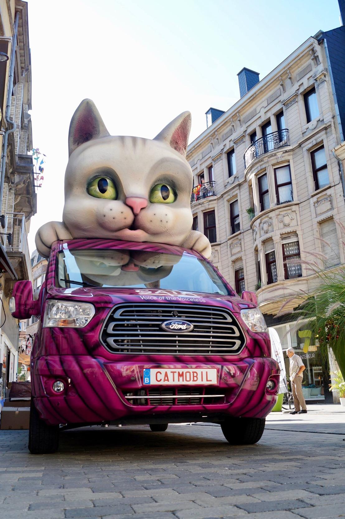 Tournée d'été de GAIA : la « catmobile » a fait étape ce jeudi à Arlon