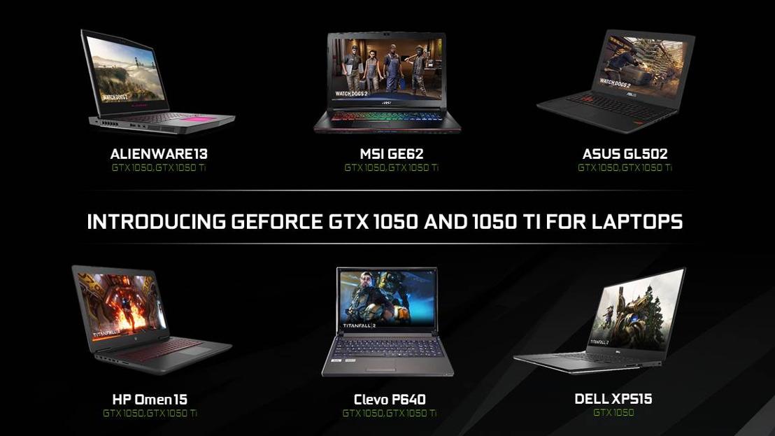 NVIDIA-Notebooks mit GeForce GTX 1050 und GTX 1050 Ti ab sofort erhältlich