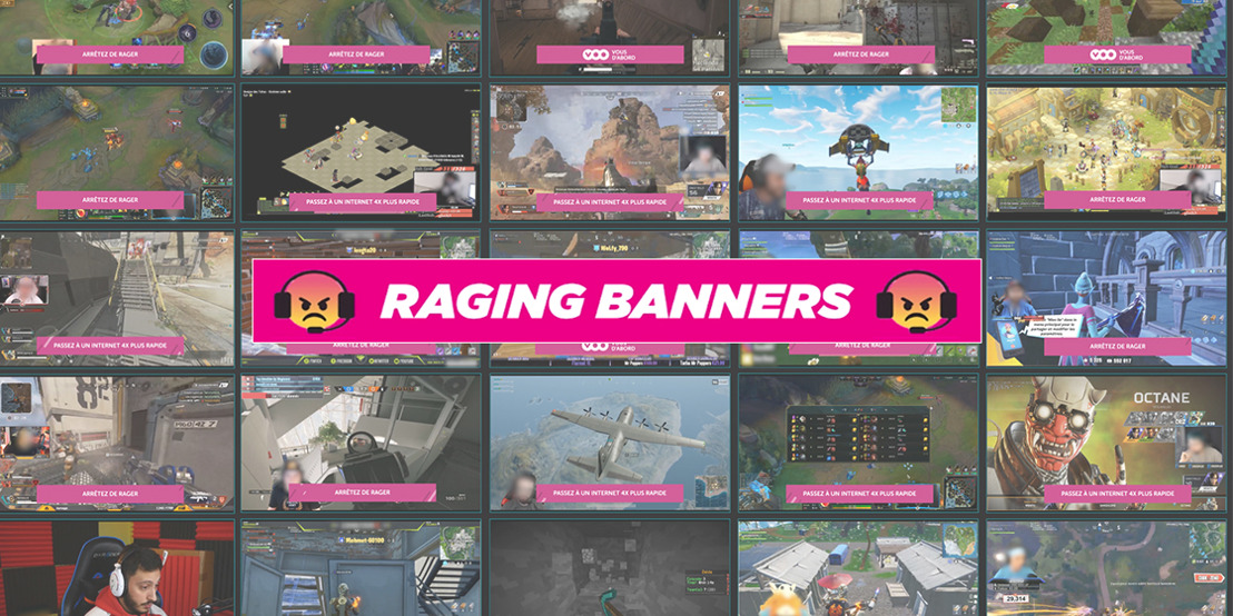VOO 'Raging Banners': the first voice-activated banners reacting to gamer rage