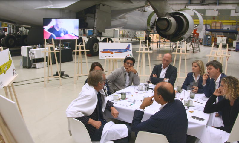 Jury evening in the Brussels Airlines maintenance hangar