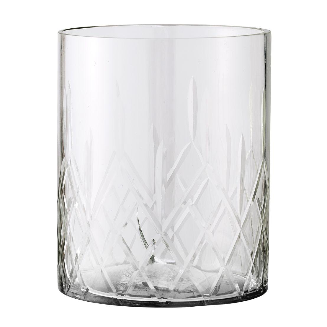 Bloomingville Waxinelichthouder grijs glas - €17