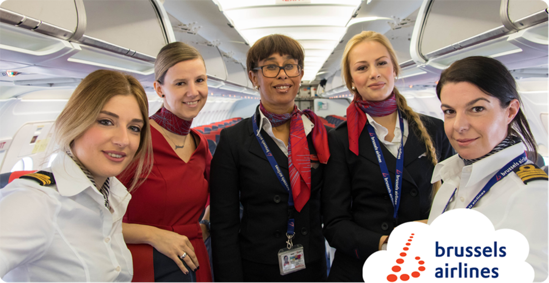 Brussels Airlines operates Berlin flights with all female crews for International Women's Day