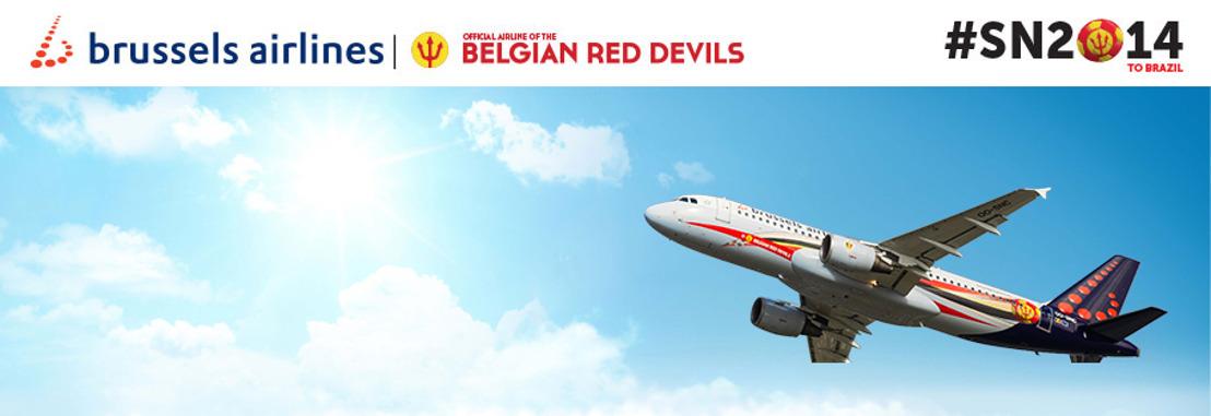 Brussels Airlines officiële luchtvaartmaatschappij van de Rode Duivels