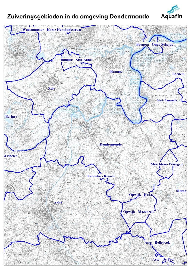 Waar wordt mijn afvalwater gezuiverd: zuiveringsgebieden in de omgeving van Dendermonde