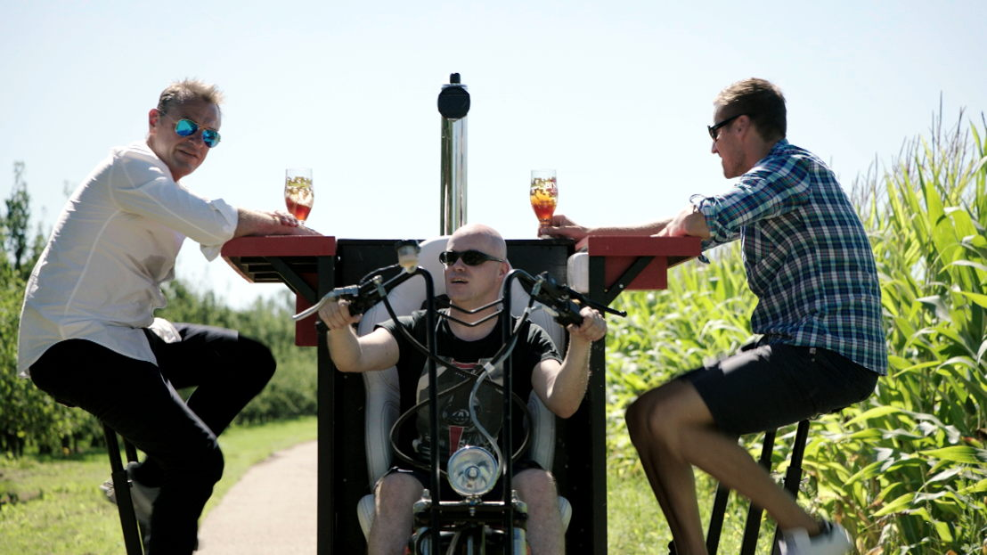 Tom Waes, Philippe Geubels en Hans Van Alphen in de mannenspecial van Weg zijn wij (c) VRT