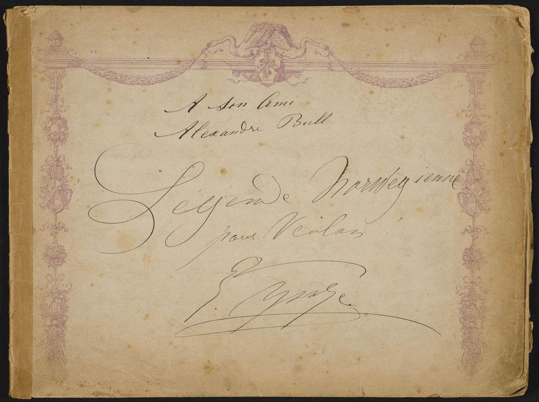 Handgeschreven boodschap door Eugène Ysaÿe