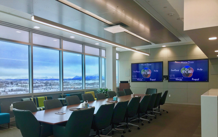 Alaska's Cook Inlet Region, Inc. Chooses Sennheiser TeamConnect Ceiling for Executive Boardroom and Conference Center