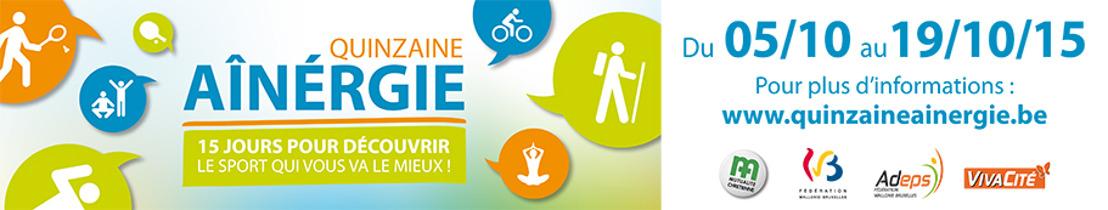 Invitation presse : énéoSport présente la Quinzaine Aînergie 2015 ce vendredi 11 septembre 2015