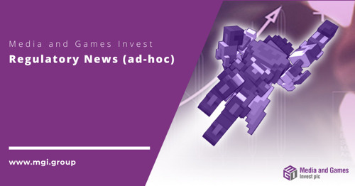 Media and Games Invest plc plant Privatplatzierung und beantragt Zweitnotierung am Nasdaq First North Premier Growth Market in Stockholm