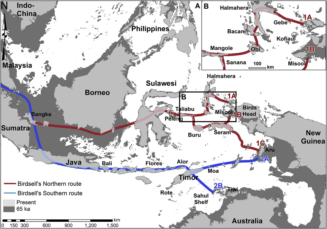 Study finds most likely route of first humans into Australia