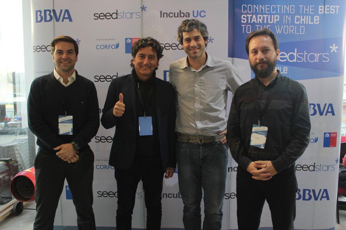 Ponentes de fintech panel (Francisco Letelier, Ramón Heredia, Augusto Ruiz-Tagle y  Miguel Canessa Gutiérrez)