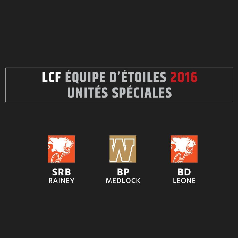 Équipe d'étoiles 2016 de la LCF - Unités spéciales