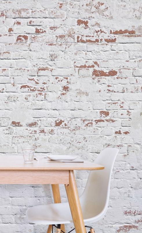 White Warehouse Brick Wallpaper