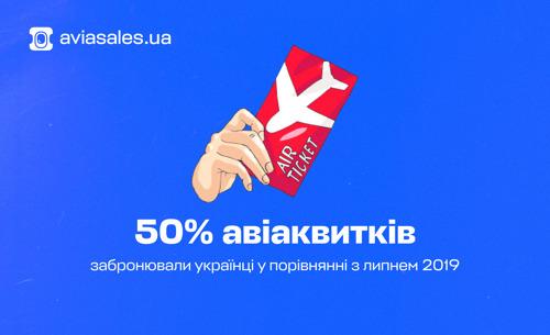В липні українці забронювали вдвічі менше авіаквитків, ніж у попередньому році
