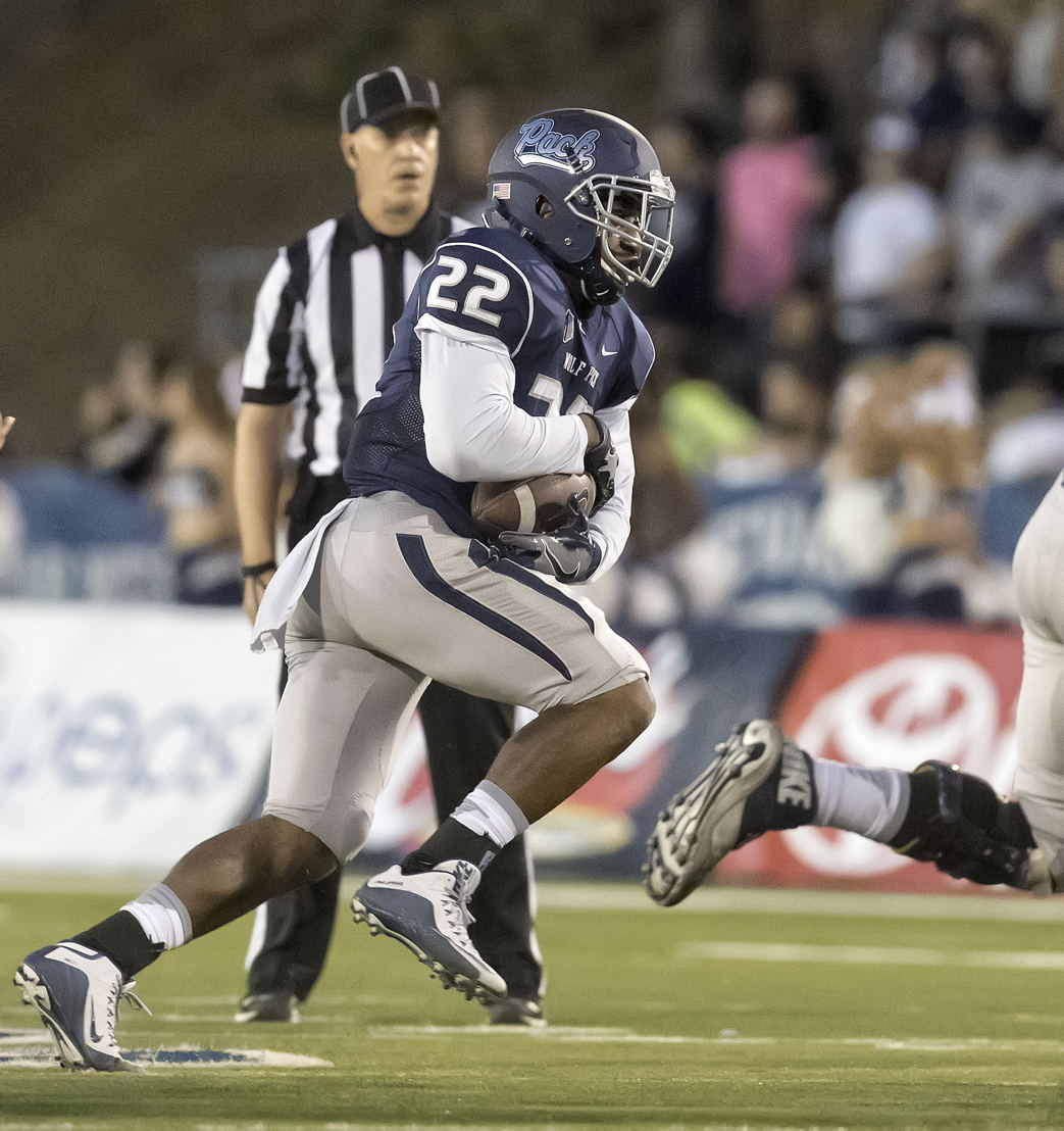 3. Akeel Lynch (Photo credit: David Byrne, Nevada Athletics)