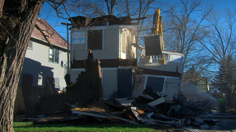 One of the 20,000 houses being demolished in Cleveland