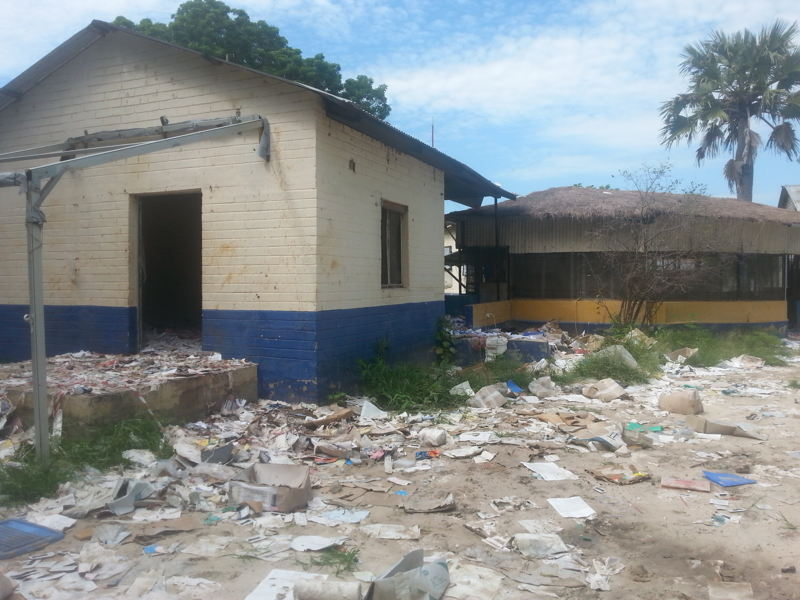 MSF Leer Clinic after looting July 2016. Photo: MSF