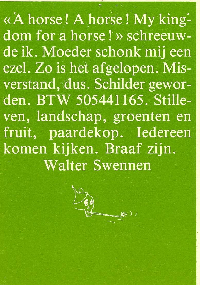 ©  Walter Swennen : Courtesy of Wim van Mulders