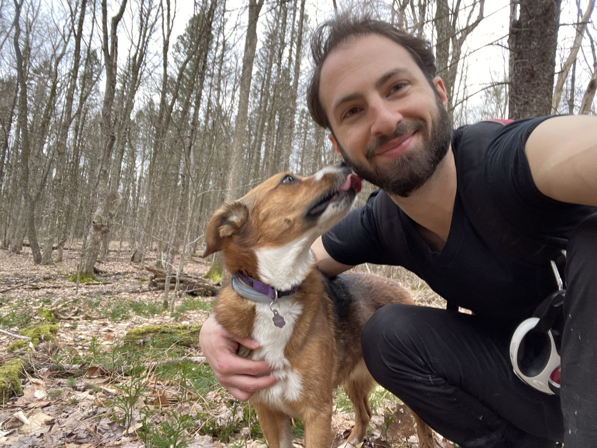 WSDG Partner/Project Manager Jonathan Bickoff, and Rosie