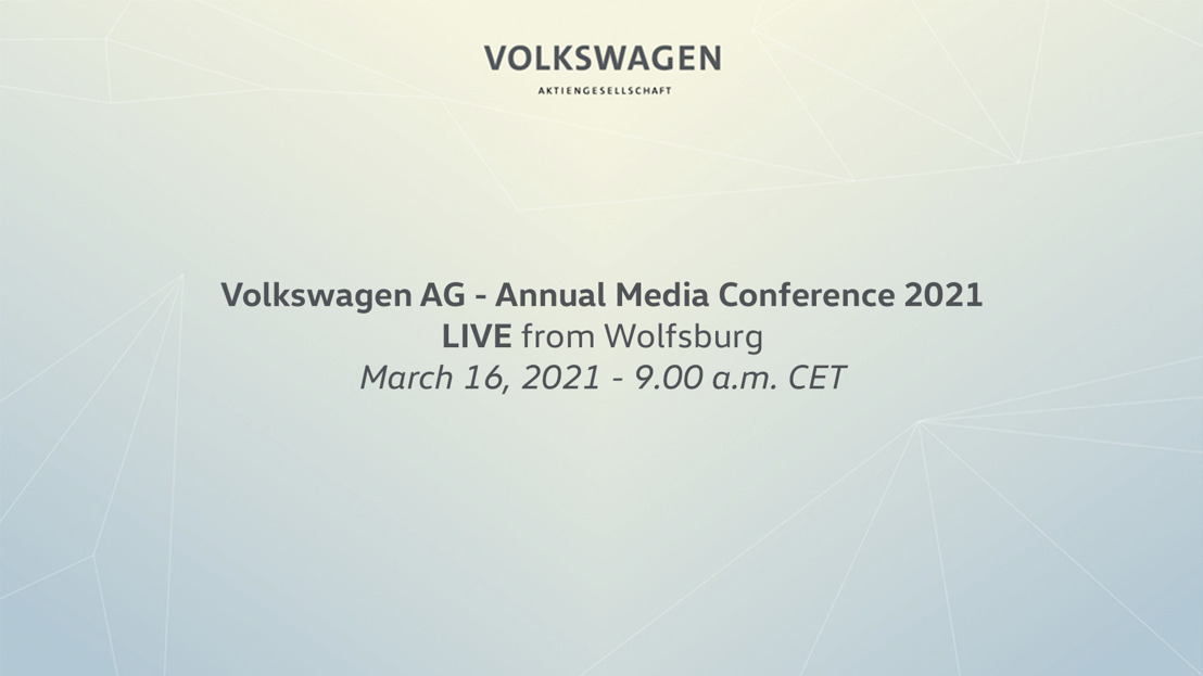 Volkswagen AG annual media conference 2021